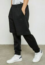 ADIDAS ® Mens Winter D-BLACK Tracksuit Jogger Sweatpants (BS2744) - UK SMALL •S•