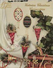 Vintage Victorian Christmas Cornocopias Ornaments Cross Stitch Leaflet