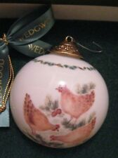 Wedgwood Twelve Days Of Christmas Ball Ornament Three French Hens Day 3