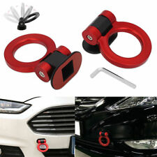Red Universal ABS Ring Racing Car Bumper Trailer Tow Hook Decoration Sticker