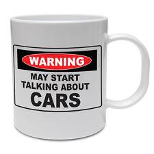 Avvertenza può iniziare a parlare di automobili, veicoli / VINTAGE / DIVERTENTE tazza in ceramica