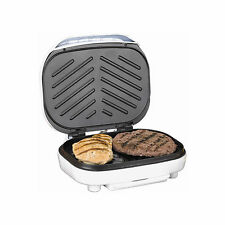 Brentwood [ts-605] Contact Indoor Grill 2-slice Capacity In White - White