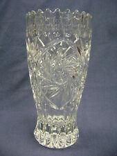 """Crystal Clear Industries Germany, Lead Crystal Vase Pinwheel. 9 1/2"""""""