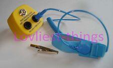 Enchufe de vinculación de tierra ESD Antiestática 10mm X 1 Pernos + 2x Conjunto De Cable Y Correa Banana UK
