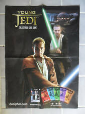 Star Wars Young Jedi Decipher CCG Card Game Poster ~ Liam Neeson Ewan McGregor