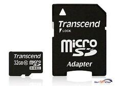 Transcend MicroSDHC Karte 32GB Class 10  Micro SDHC TS32GUSDHC10 SD HC + Adapter