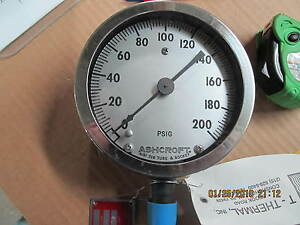 Ashcroft Raytheon Line No. 93 Supply Pressure Gauge