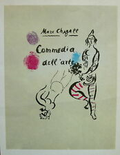 MARC CHAGALL 1966 Commedia dell'arte litho - Tempo Graphics - Mourlot #12 Signed