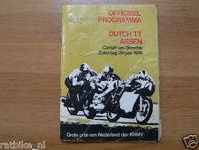 1974 DUTCH TT ASSEN PROGRAMME GRAND PRIX MOTO GP,RENNPROGRAMM SC019