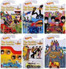 THE BEATLES YELLOW SUBMARINE HOT WHEELS DIECAST VEHICLES COLLECTABLE SET OF 6
