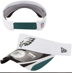PHILADELPHIA EAGLES NFL New Era White Training Head Gear Visor Adjustable 🏈