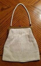 Vintage whiting and davis white mesh purse strap excellent