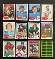 Lot of 12 1976 Topps Football Cards w/ Staubach Championship - Nice Condition