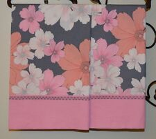 Pink Coral Pillowcases Two Handmade standard queen Cotton New floral