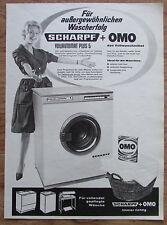 SCHARPF VOLLAUTOMAT PLUS 5 OMO original Zeitungswerbung aus 1963 Werbung Reklame