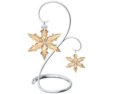 Swarovski 2015 Scs member only set, large & little ornament + stand new in box !