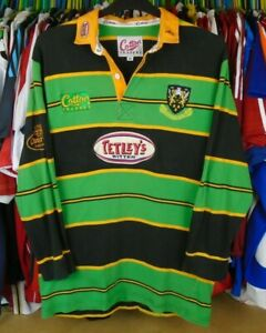 NORTHAMPTON SAINTS 1998 HOME COTTON TRADERS RUGBY SHIRT JERSEY TOP MEDIUM  ADULT