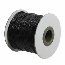 Roll Waxed Cotton Cords Wax String Cording for Beads Jewelry Black 1.0mm X4l2