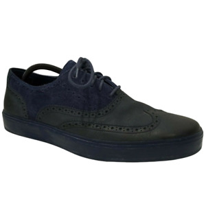 Cole Haan Men's Bergen Wingtip Oxford Black Iris Suede Blue Size 13 M C11680