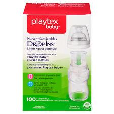 Playtex Drop-Ins Liners for Playtex Nurser Bottles, 4oz - 100ct - NEW