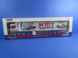 CORGI CC13705 SCANIA R SERIES TOPLINE FRIDGE TRAILER SCOTT TRAWLERS LTD, MIB!