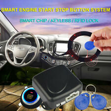 Car Start Stop Button Engine Push Start Button Alarm Rfid Lock Keyless System