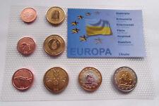 UKRAINE 2008 SET EURO COINS SPECIMEN PATTERN ESSAI PROTOTYPE  Україна