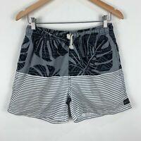 RipCurl Board Shorts Mens Size Small Multicoloured Striped Elastic Waist