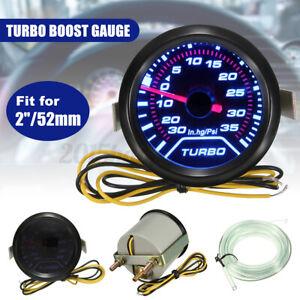 "52mm 2"" Car Turbo Boost Pressure Pointer Gauge Meter Dials LED Vacuum UK //"