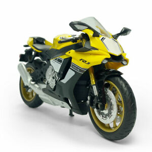 1:12 Yamaha YZF-R1 Motorcycle Model Diecast Motorbike Model Collection Yellow