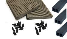 20 m² WPC MASSIV Komplettbausatz Terrassendielen Grau 1.WAHL Dielen Holz Set