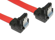 90cm LONG Serial ATA SATA 2 3GB Data Cable Lead Right Angled Locking Clips latch
