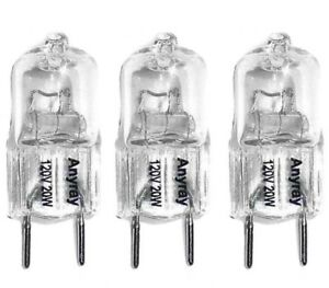 (3)-Bulbs Replacement for 120V Samsung Microwave ME18H704SFS Cook Top Light 20W