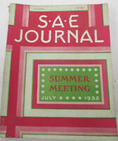S.A.E  Journal   Society Of Automobile Engineers  July 1932   #1  100614lm-e2
