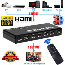 5-Port 4K 1080P HDMI Switch Switcher Selector Splitter +Remote For HDTV PS3 DVD