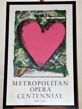 Jim Dine Pink Heart Metropolitan Opera Centenial 1983 Lim. Ed. Poster Lithograph