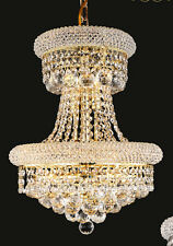 World Crystal Limited Edition Bangle 9 Light Crystal Chandeliers Light Gold