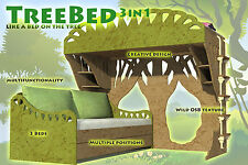 TREE BED 3in1 Kids Bed Plans Pattern CNC Laser ScrollSaw DIY