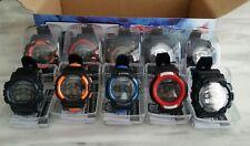 Reloj de Pulsera 10x Digital Deportivo Multi LED Luz Fecha Alarma Boy's Niñas Regalo Joblot