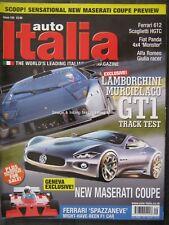Auto Italia February 2007 Murcielago GT1 Ferrari 612 Scaglietti Alfa Giulia 127