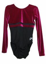 GK Elite Berry Velvet/Black Gymnastics Leotard - AXS Adult Extra Small 3954