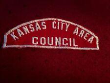 BOY SCOUT RED & WHITE COUNCIL STRIP KANSAS CITY AREA COUNCIL