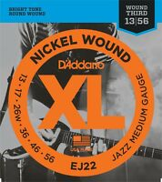 D'Addario EJ22  Nickel Wound Jazz Medium Electric Guitar Strings 13-56