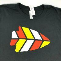 Kansas City Chiefs Mens M Slim Fit T-Shirt Arrowhead Graphic Logo Black Tee