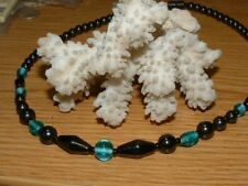 SEA BLUE MAGNETITE NECKLACE MAGNET CLASP HEALING MAGNETIC JEWELRY