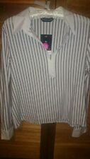 Dorothy Perkins Women's Striped V Neck Blouse Tops & Shirts