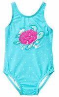 NWT Gymboree Girls Turtle Swimsuit 1 PC Toddler 12-18-24M,2T,3T,4T UPF 50+