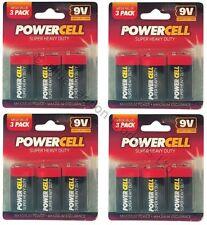 12 x 9V PP3 Powercell Heavy Duty SMOKE ALARM MN1604 6LR61 BATTERIA BATTERIE