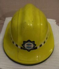 More details for vintage (ici) fire service  ** firemans yellow helmet ** vgc - clean & tidy