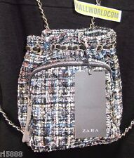 NEW ZARA MULTICOLOR MINI FABRIC QUILTED BACKPACK BAG BLOGGERS REF.8468/104